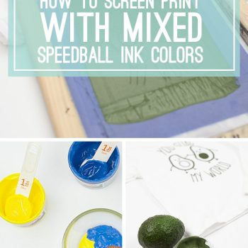 How to Screen Print with Mixed Speedball Ink Colors