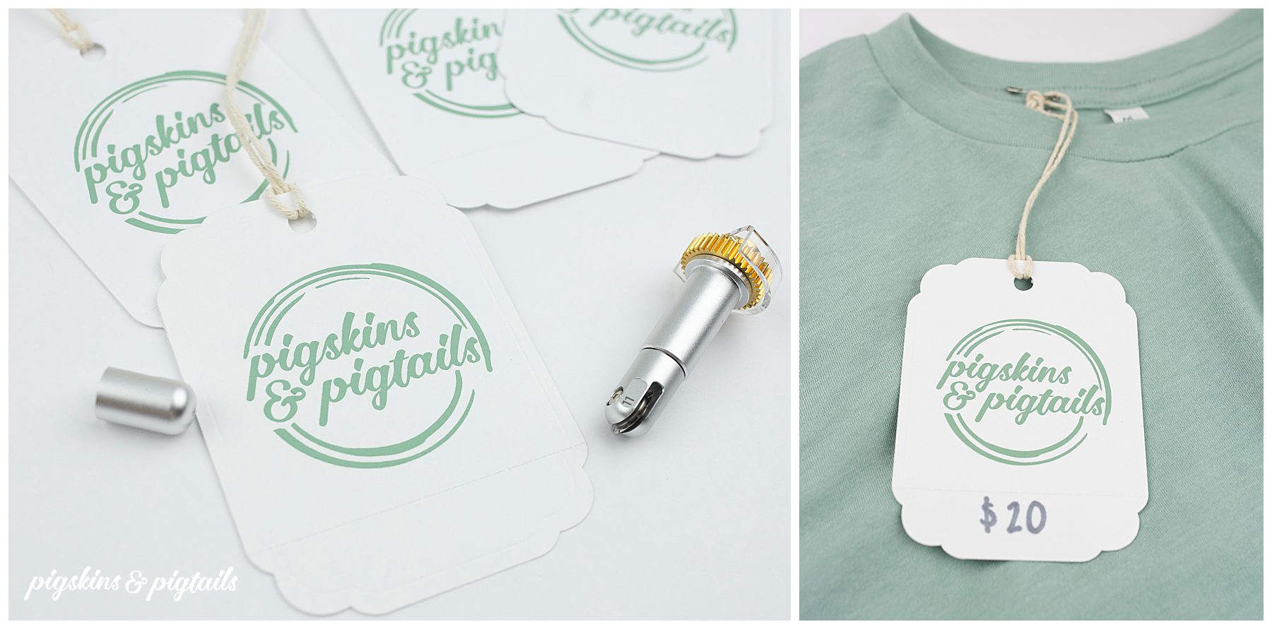 how to screen printing tags