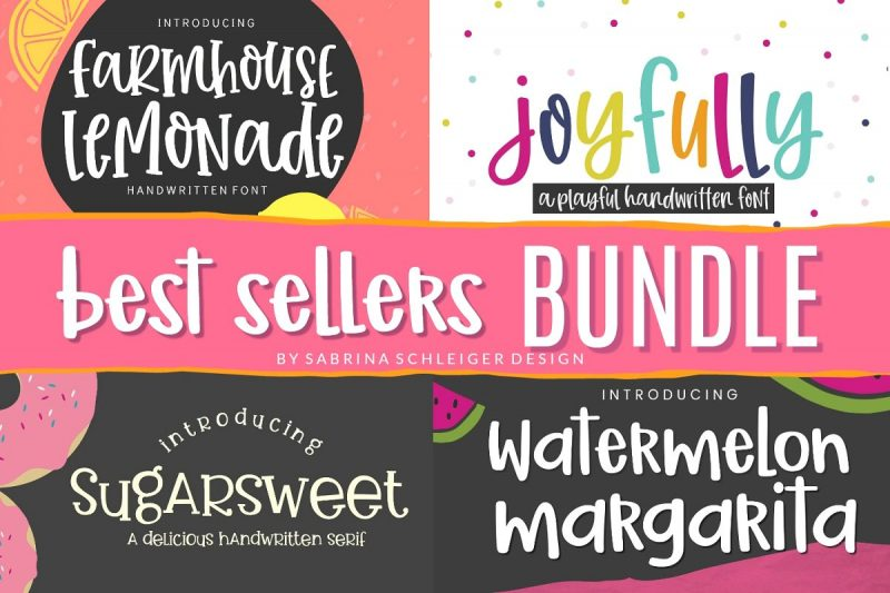 Favorite font bundle for cricut