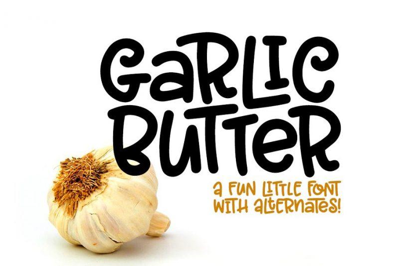 Garlic butter font download creative handwritten font