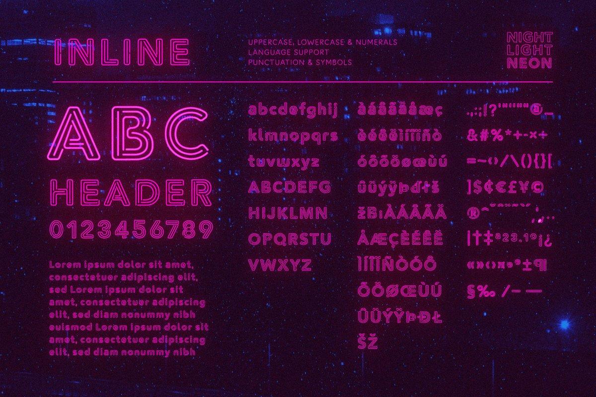 neon lights font for cricut shirts download