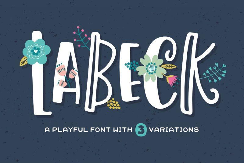labeck font download playful kids font