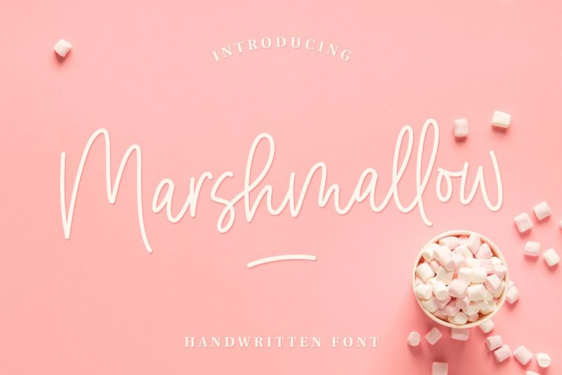 Marshmallow script font from creative market