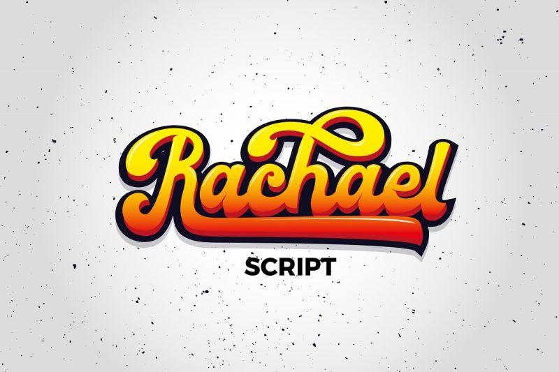 rachael script font retro vintage