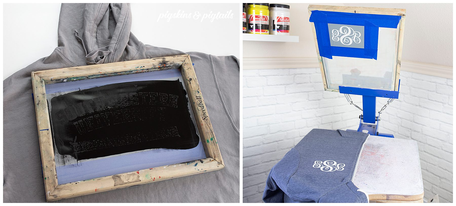 screen printing zipper hoodie how to