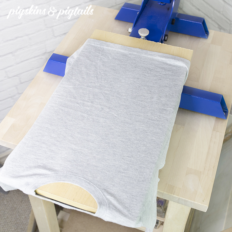 DIY Youth and Toddler Size Screen Printing Pallet