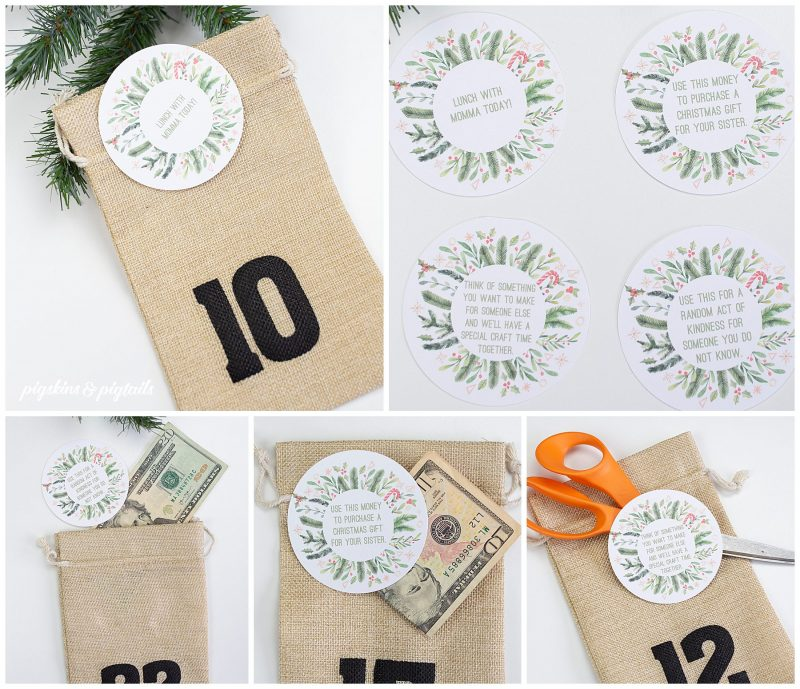 christmas advent bag ideas for kids