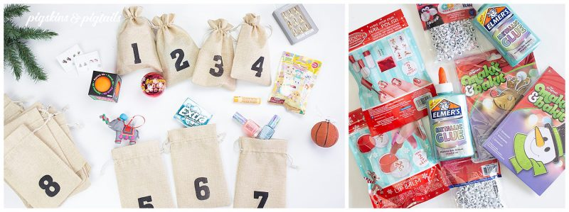 christmas countdown bags filler stocking stuffer ideas girls