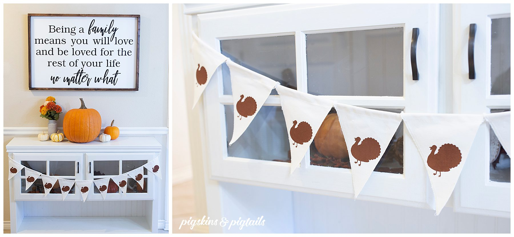 diy turkey banner decoration how to screen print