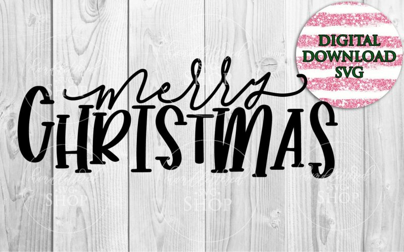 merry christmas script svg etsy