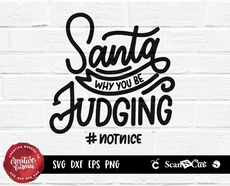 santa funny christmas svg design cut cricut