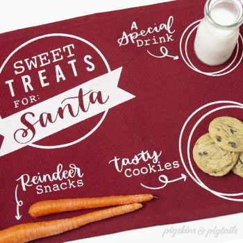 How to Screen Print Santa Treat Mats