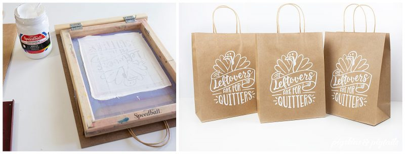 How to Screen Print on Paper Bags + To Go Boxes with Cricut