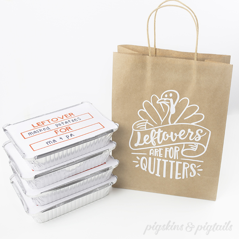 How to Screen Print on Paper Bags + To Go Boxes with Cricut Vinyl