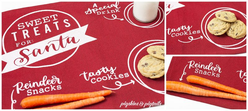 screen printing with vinyl cricut silhouette santa treats