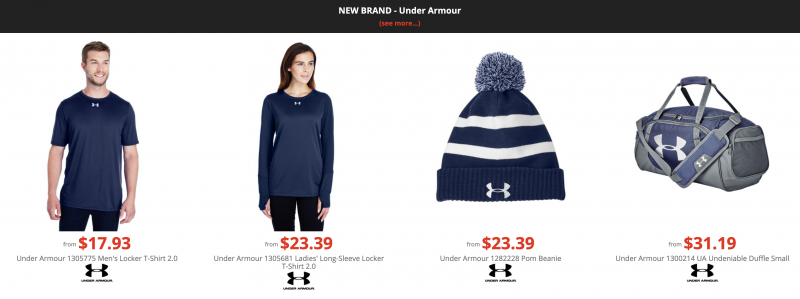 under armour discount best prices wholesale