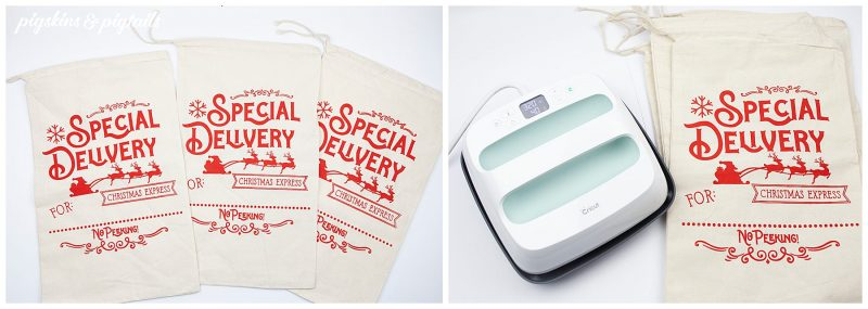 how to screen print bags santa christmas diy