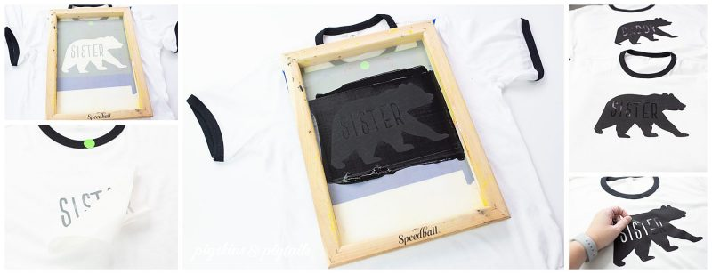 how to screen print personalized shirts names