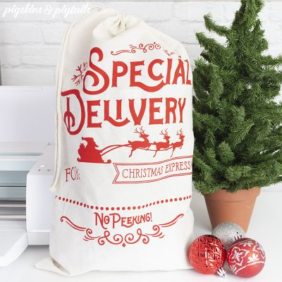 santa bags cricut maker diy christmas