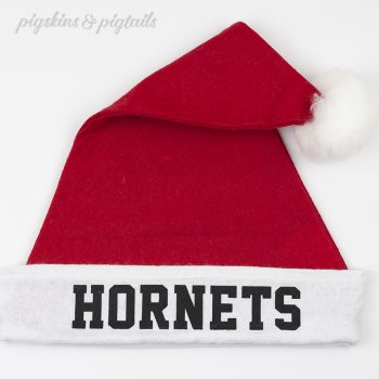 How to Screen Print on Felt Santa Hats