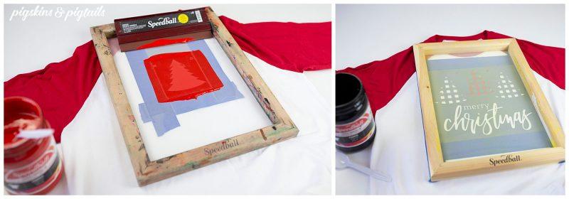 screen print vinyl cricut tshirt for christmas