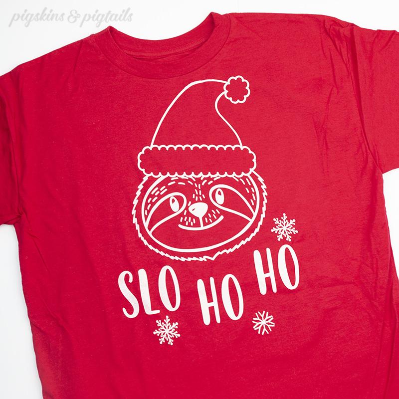 sloth shirt christmas cricut silhouette cut file