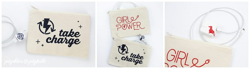 organize chargers travel personalized bags