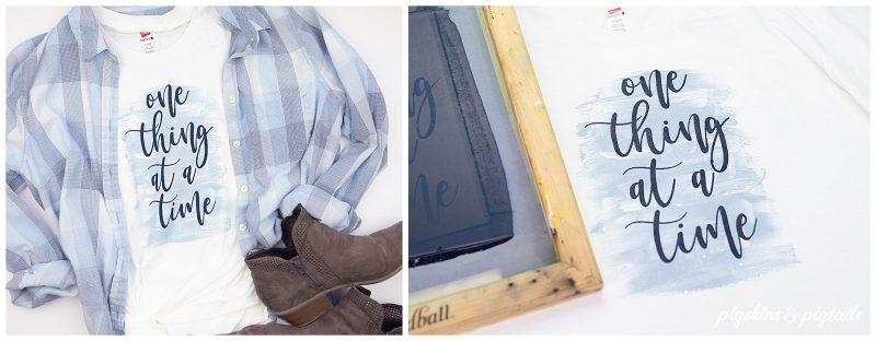 screen printing effect washed faded watercolor