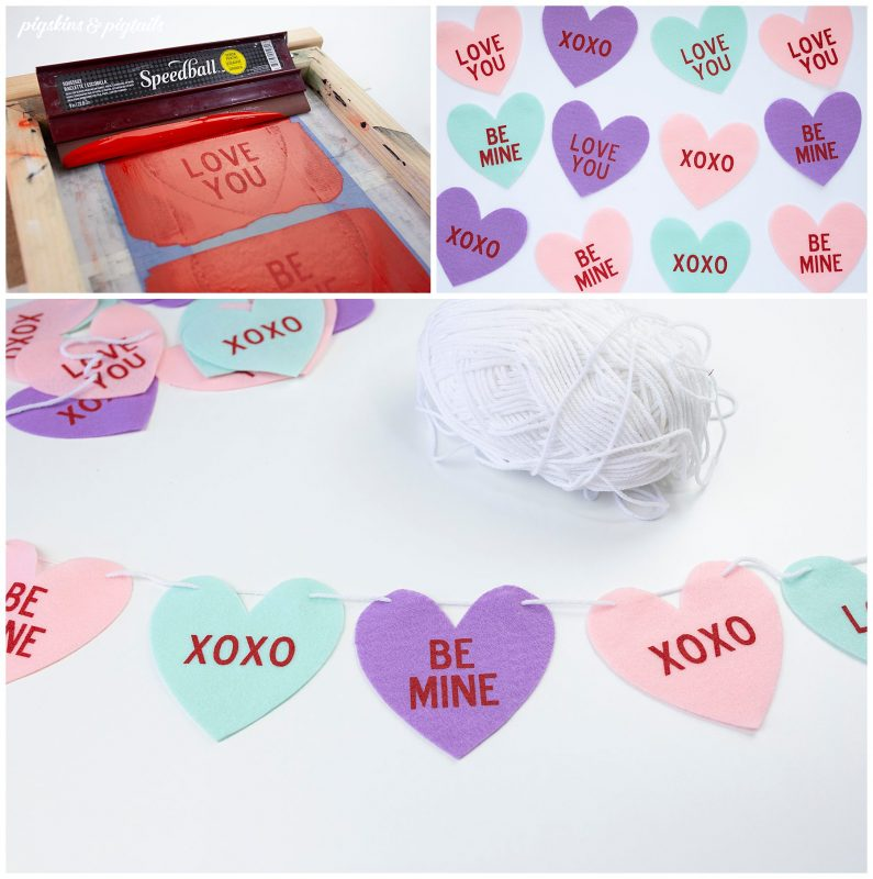 valentine screen printing project diy easy