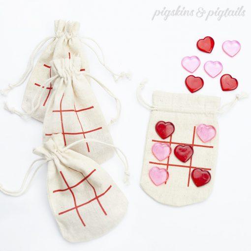 valentines favor bag screen printed bulk diy