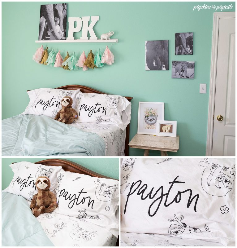 diy bed sheet set cricut silhouette project