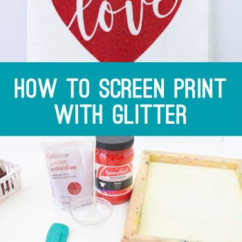 how to screen print with glitter and speedball fabric ink