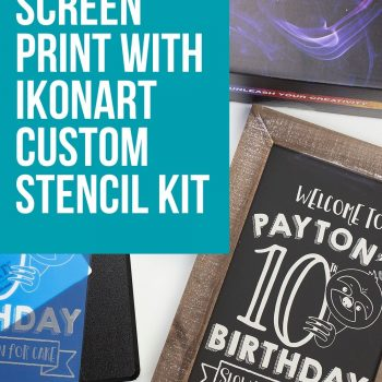 how to screen print ikonart stencil kit