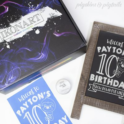 How to Screen Print on a Chalkboard with IKONART Custom Stencil Kit