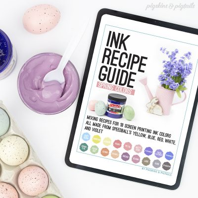ink recipe guide spring colors speedball
