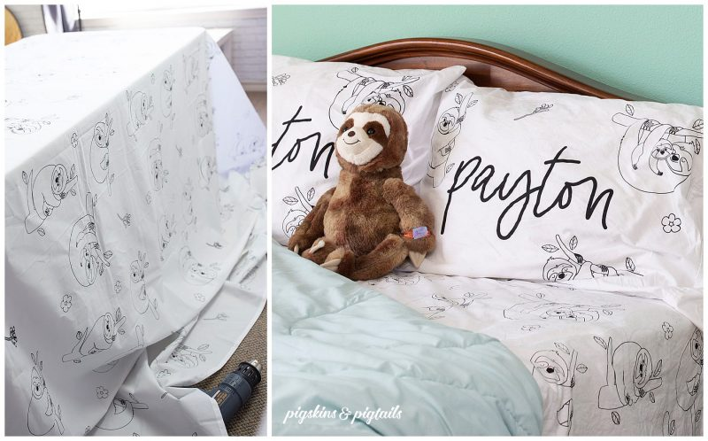 personalized bed sheets printed ink speedball