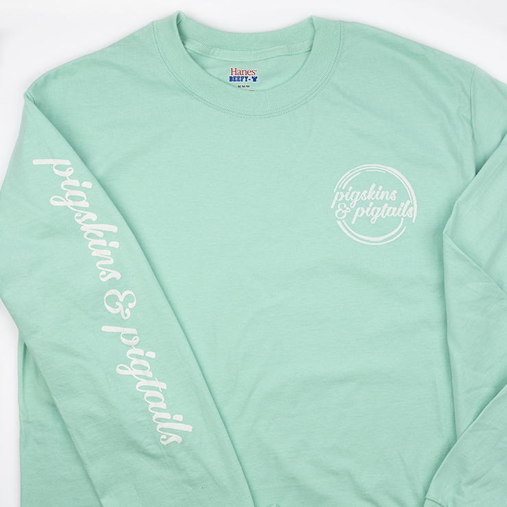 Screen Printing on Hanes Beefy-T Long Sleeve Shirts