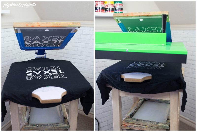 how to screen print white ink