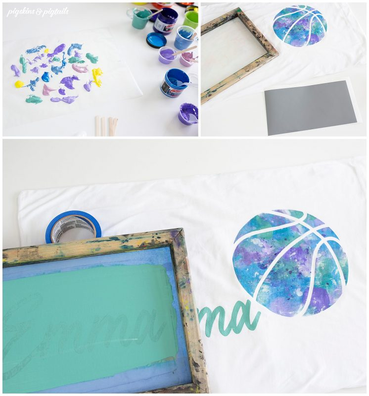 screen printing marble effect tutorial