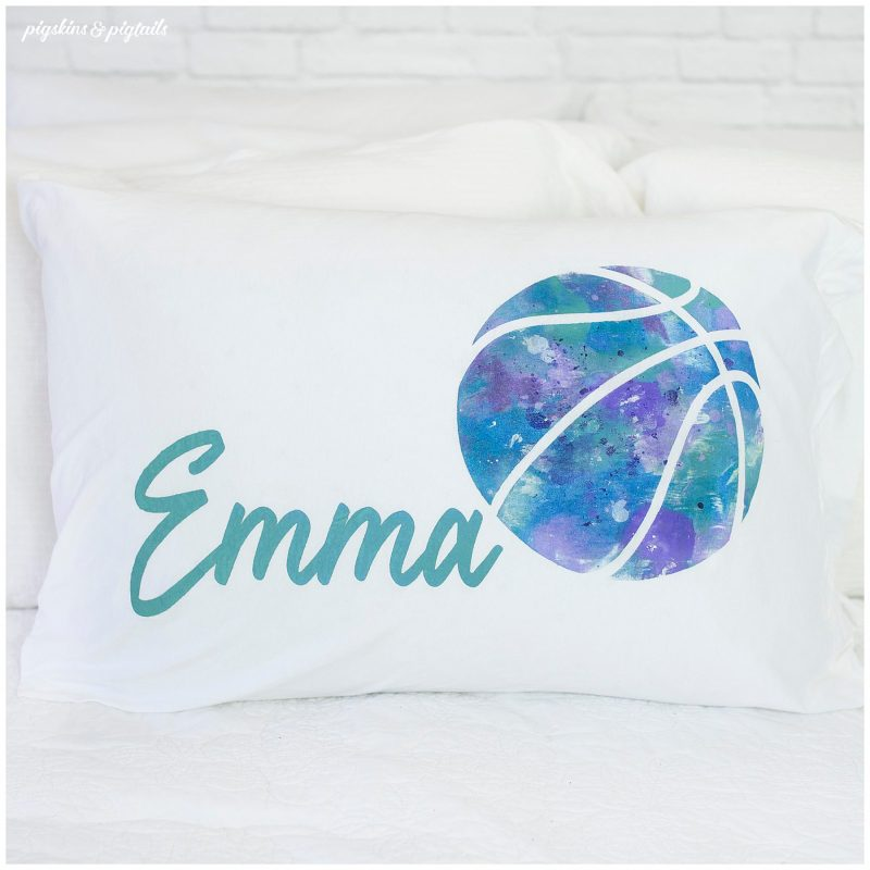 screen printing vinyl marble pillowcase personalized