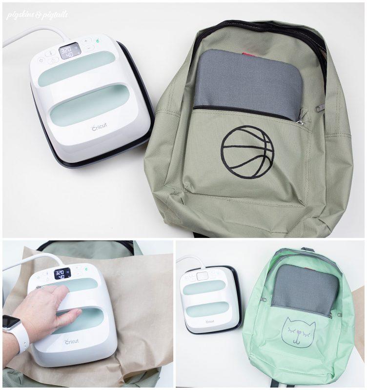 cricut easy press 2 heat set backpack screen printing ink