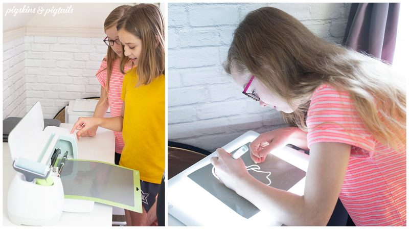 Cricut kids at home project DIY brightpad