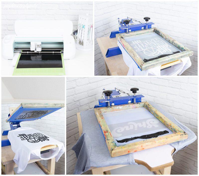 cricut maker screen printing t-shirts foster care
