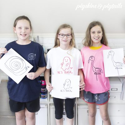 cricut project kids screen printing at home with artwork into shirts