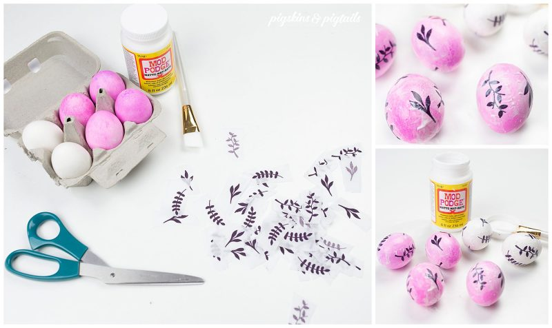 easter eggs screen printing tissue paper