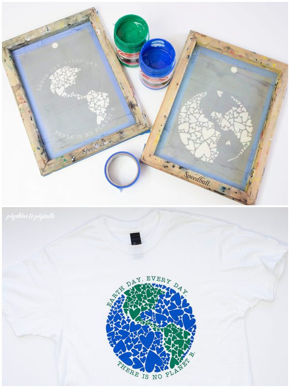 how to line up multiple color screen printing diy
