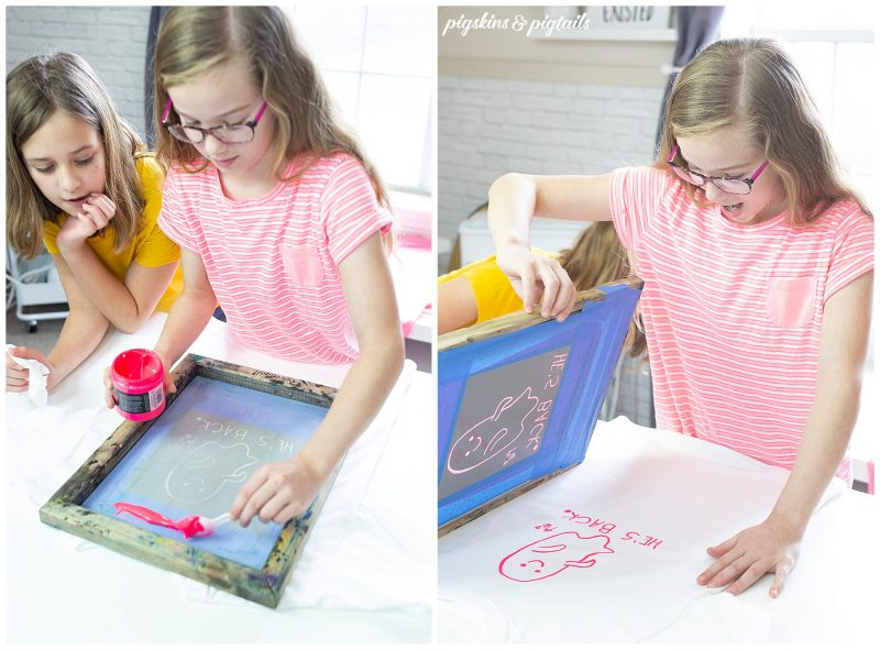 how to screen print custom desigsn drawings with kids