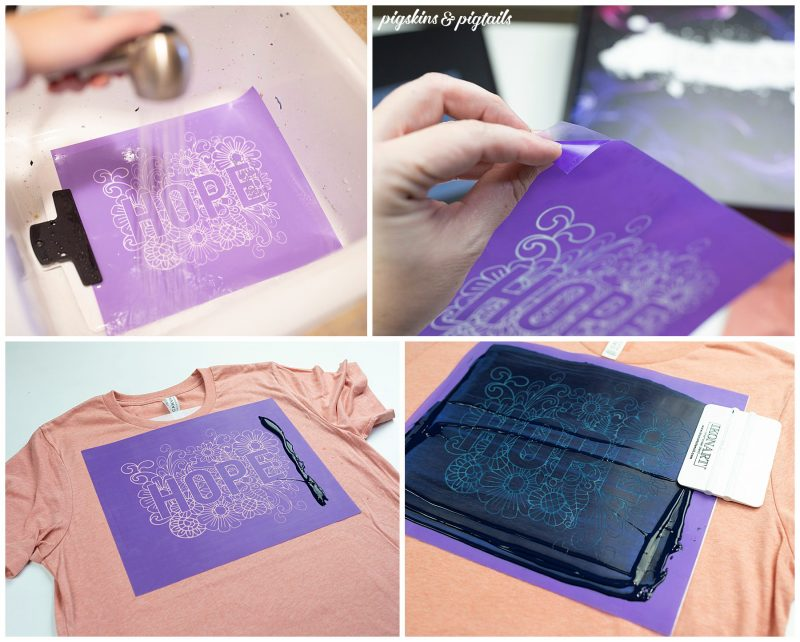 how to use ikon art stencil kit