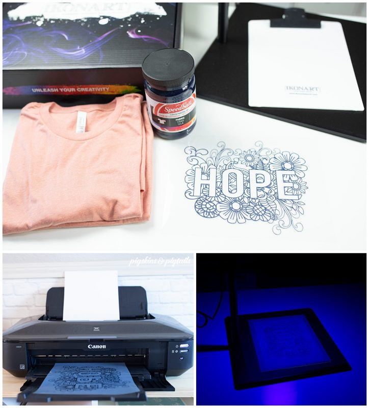 ikon art screen printing on t-shirts