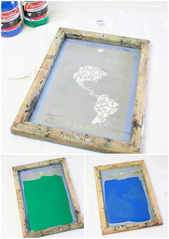 screen printing 2 color alighn screen accurately